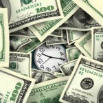 clock_surrounded_by_money