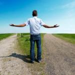 man choose path