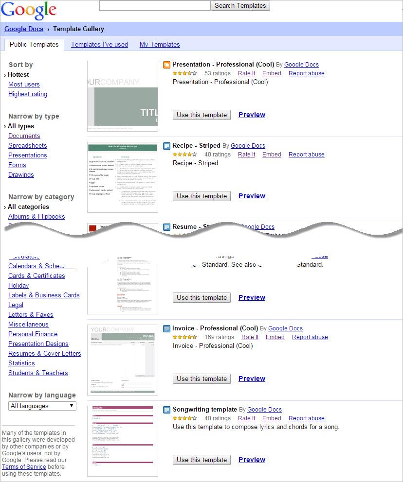 Google docs college essay template