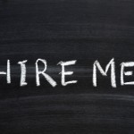 hire me chalkboard