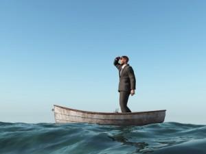 lost man in boat