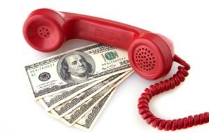 phone w 100 bills