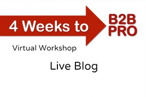 4 Weeks to B2B Pro Virtual Workshop Live Blog