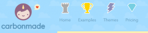 Carbondale menu icons